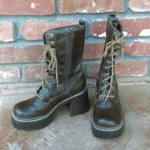SKECHERS ✰ Women's Mid Calf Lace Up Combat Boots
